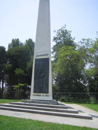 Hungarian Freedom Monument in MacArthur Park, Los Angeles