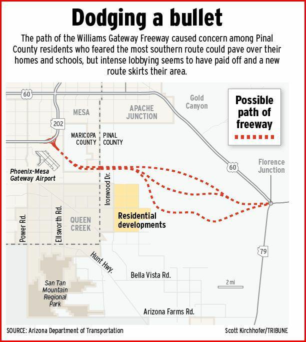 Queen creek arizona proposed freeway for Pool builders queen creek az