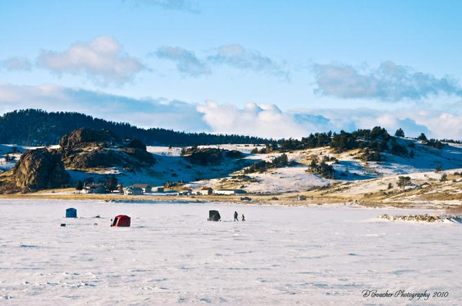 Ice Fishing on Tarryall Reservoir