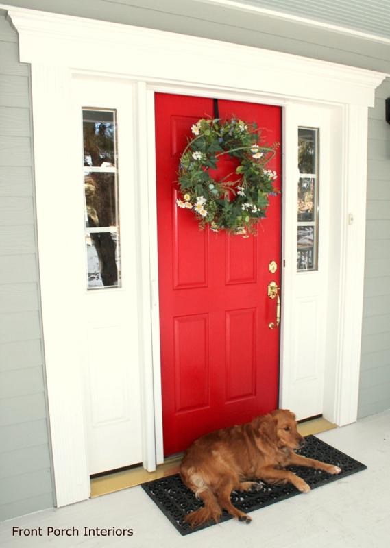 Beautiful Red Exterior Door Contemporary Interior Design