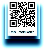 QR code with blue outline states realestatraiza