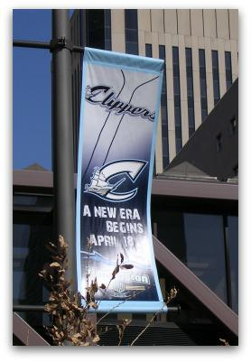Clippers Banner Downtown Columbus