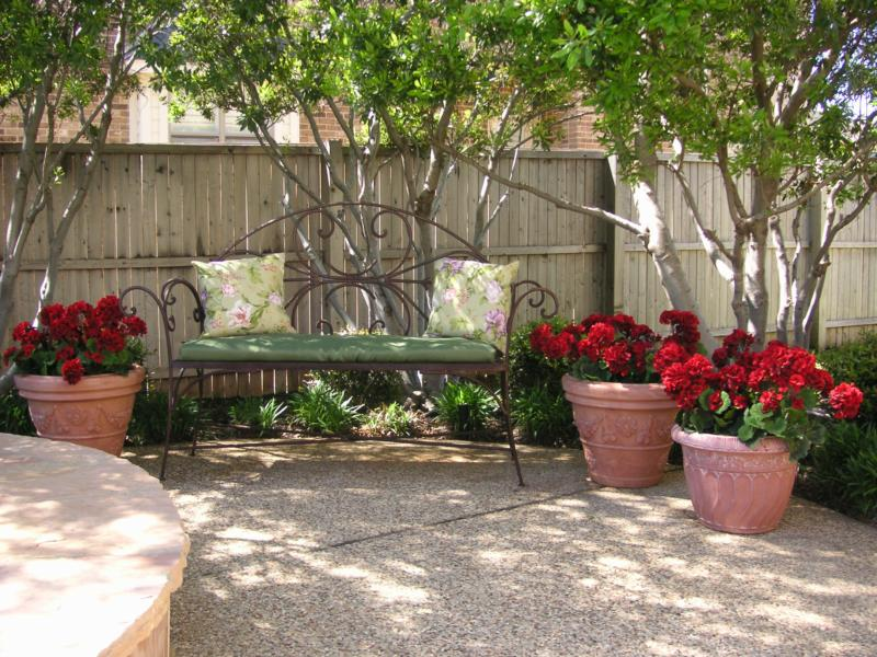 Artificial Plants For Staging Outdoor Living Areas.