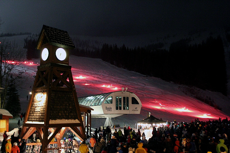 The Torchlight Parade on Schweitzer Mountain