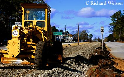Railroad racks being removed in Pine Mpuntain GA