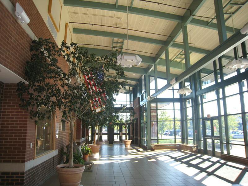 High school atrium