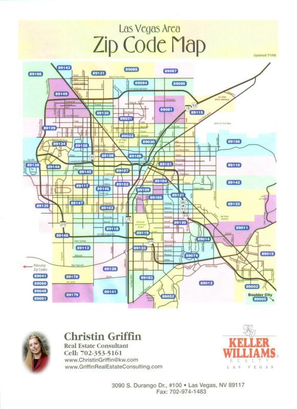 Las Vegas Area Zip Code Map