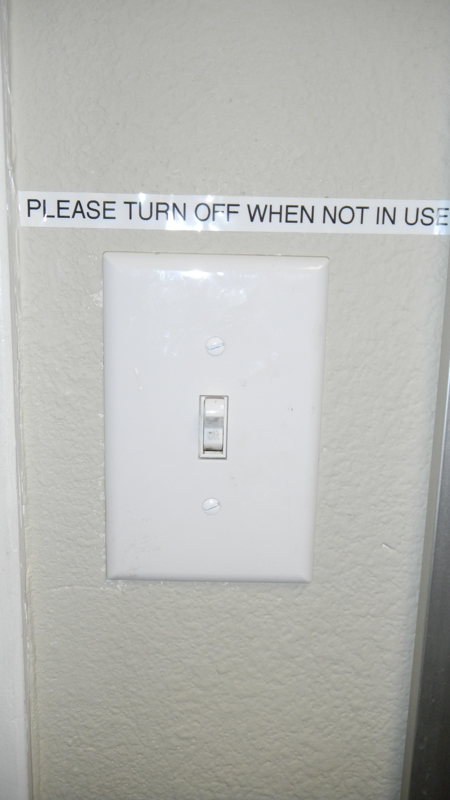 Turn off lights