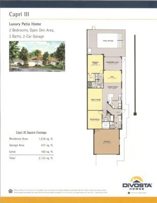 Divosta homes bonita springs home review for Capri floor plan