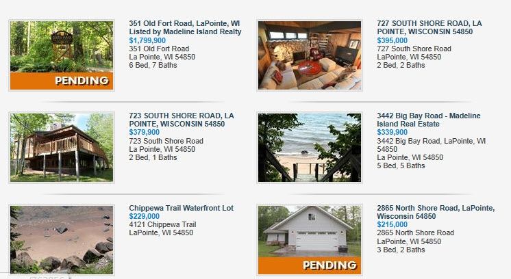 Active and Pending listings - Madeline Island Realty