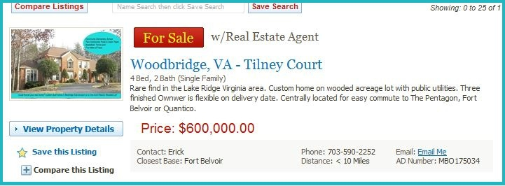 Militarybyowner -Home For Sale Lake Ridge VA