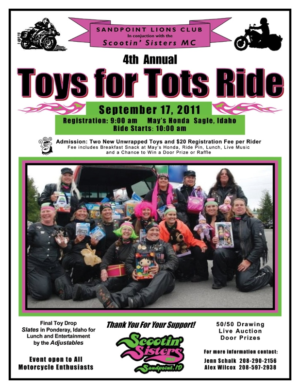 Toys For Tots Pdf : Scootin sisters th annual toys for tots ride sandpoint