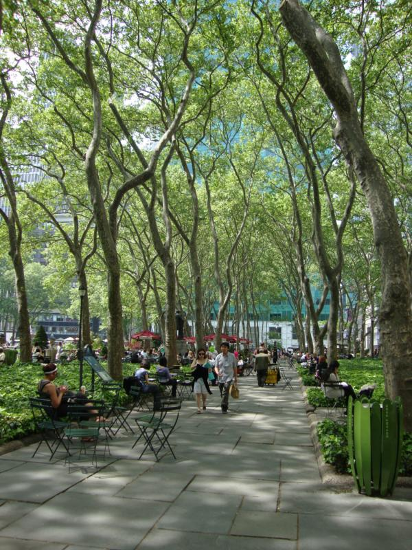 Bryant Park New York City 6th ave Feng Shui Manhattan