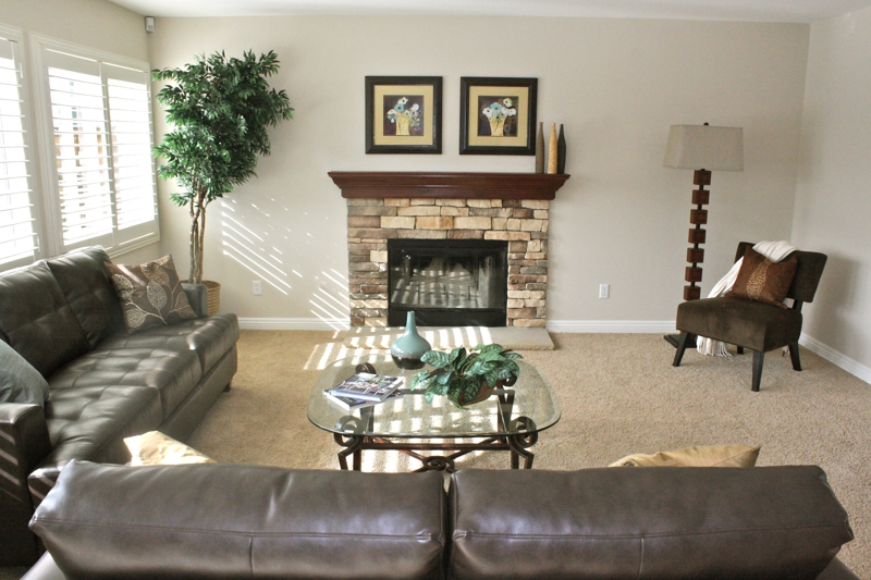 Winchester Home Staged Family Room