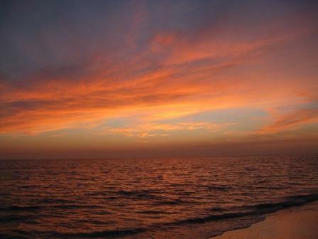 sunset in Madeira Beach