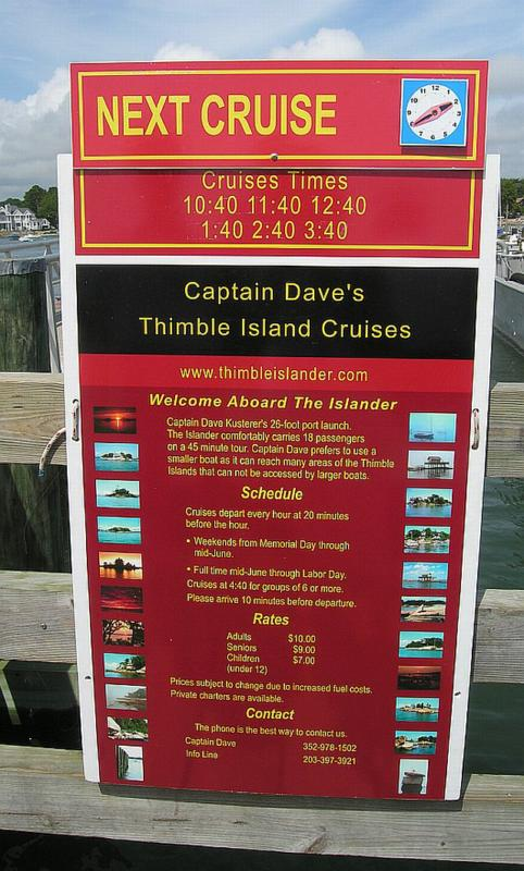 Thimble Island Cruise - Captain Dave - The Islander