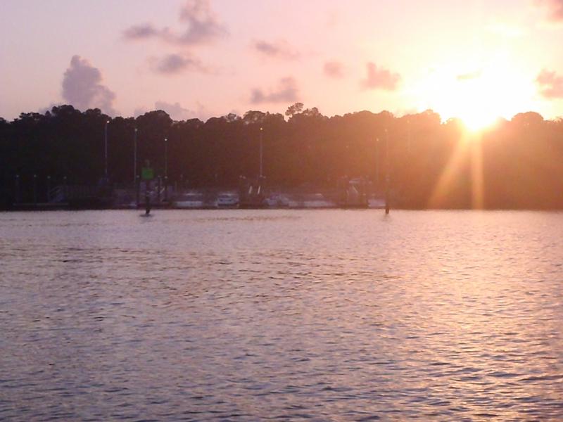Bay Pines boat ramp at dusk