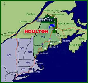 houlton maine location,maine map