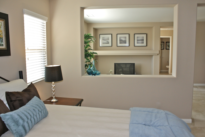 Menifee Home Staging Master Bedroom