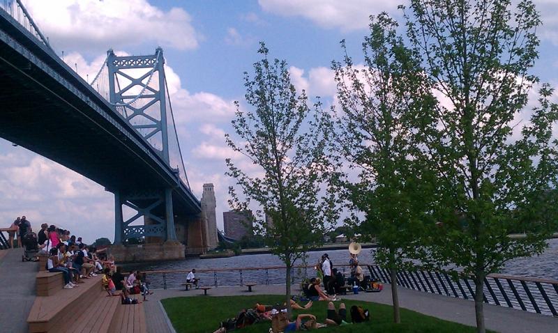 Race Street Pier - View of Ben Franklin Bridge
