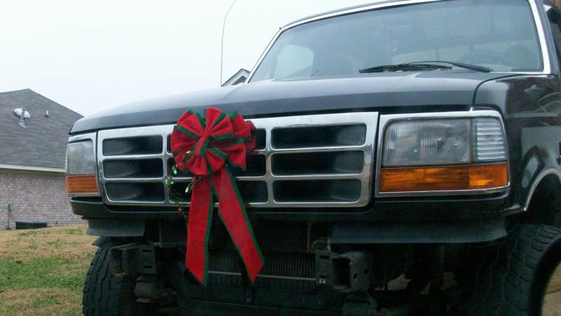 Christmas truck in Mississippi