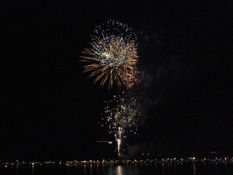 Lake Charles Christmas Fireworks