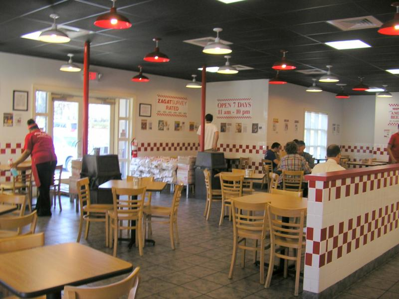 5 Guys Lobby Raleigh Best Places to Eat Burgers