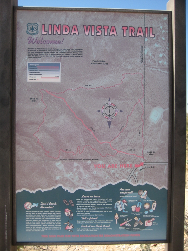 Linda Vista Trail Map