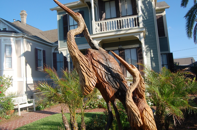 Tree sculptures in the aftermath of hurricane ike gal