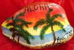 painted maui coconut - aloha