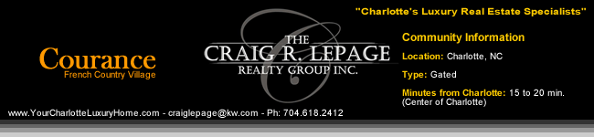 Courance / Charlotte NC / Gated Communities / Charlotte Luxury Real Estate / Luxury Homes / French Country