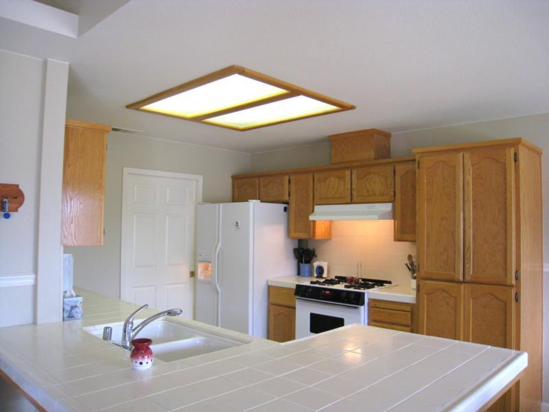 update kitchen lighting. update kitchen lighting
