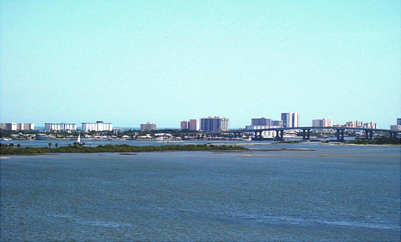 view of Intracoastal from Halifax Landing Condominiums in South Daytona FL