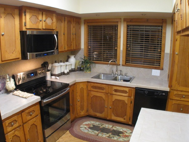 Lake Livingston Real Estate : kitchen with NEW Samsung appliances commercial grade dishwasher