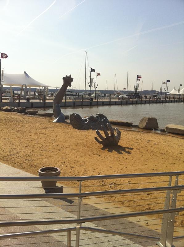 Living at the national harbor for Awakening sculpture national harbor