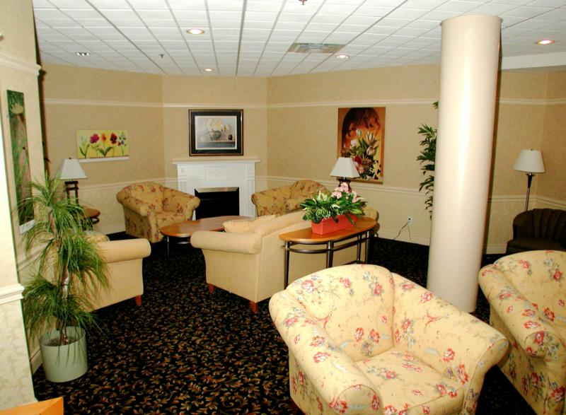 Sitting room for residents at Dayspring to gather.