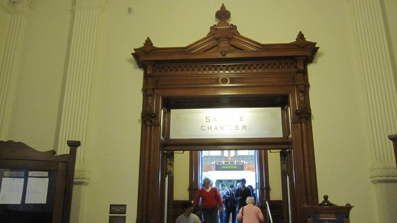 entrance to the Texas Senate