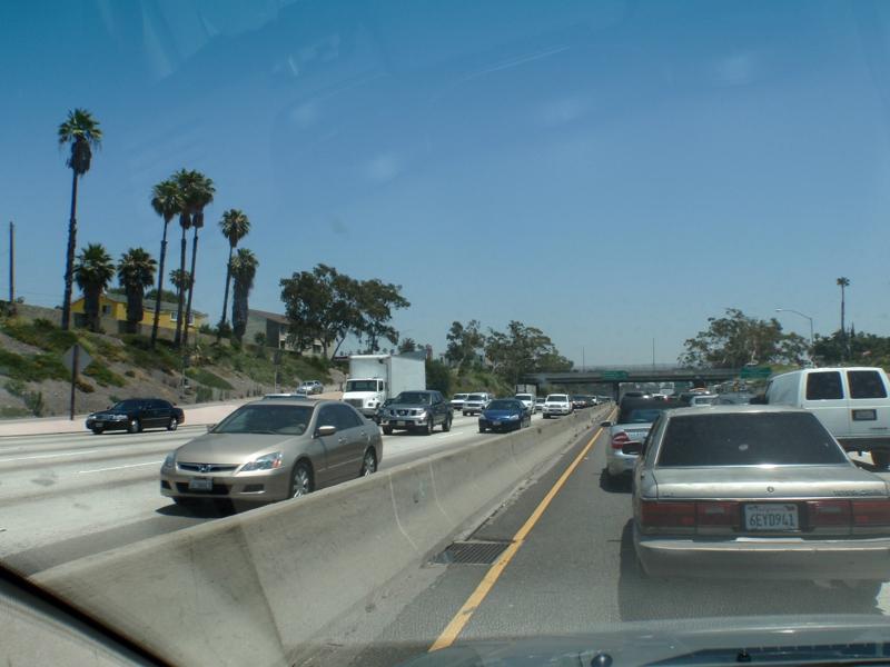 now on I-10 Freeway same time frame