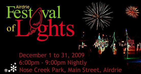 Airdrie Festival of Lights - Airdrie Real Estate - Bill Jones