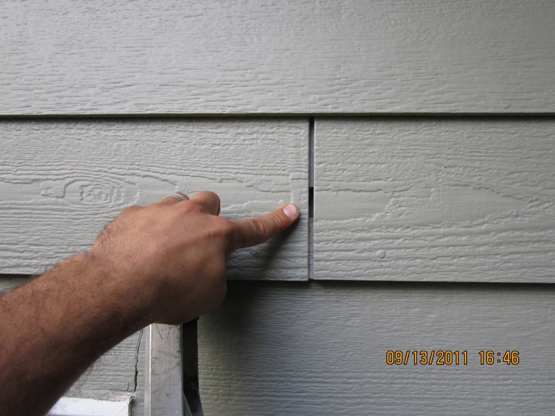 No Flashing And No Caulking On Cement Fiber Lap Siding At