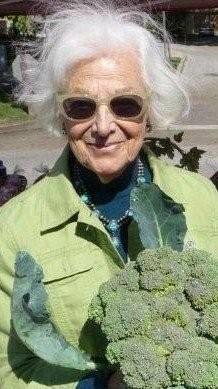 Artist and broccoli bouquet