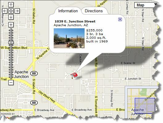 Map of Home In Apache Junction