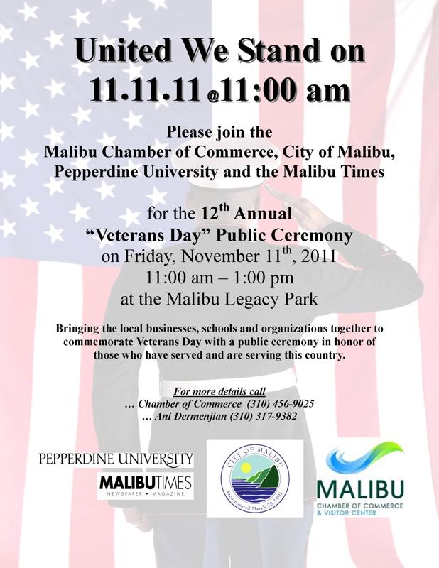 Malibu CA celebrates Veterans Day