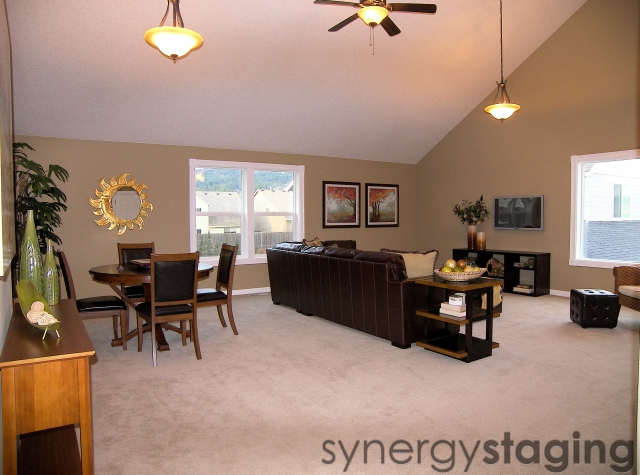 Family Room Staged by Synergy Staging