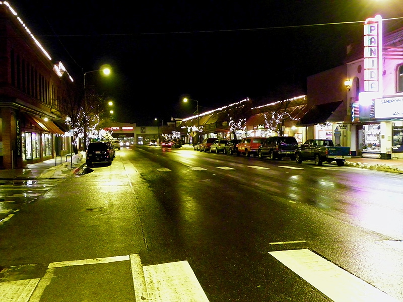 First Ave in Sandpoint during Winter Carnival