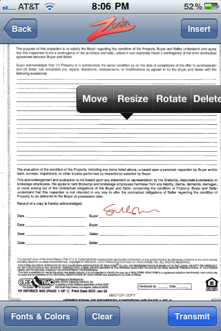 Zosh An Iphone App For Signing Documents Right On Your Iphone Totally Awesome