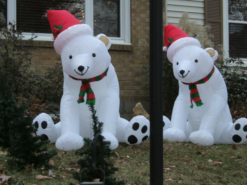 Blow up Christmas Bears