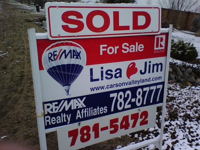 Lisa Wetzel and Jim Valentine Sold Carson valley Real Estate