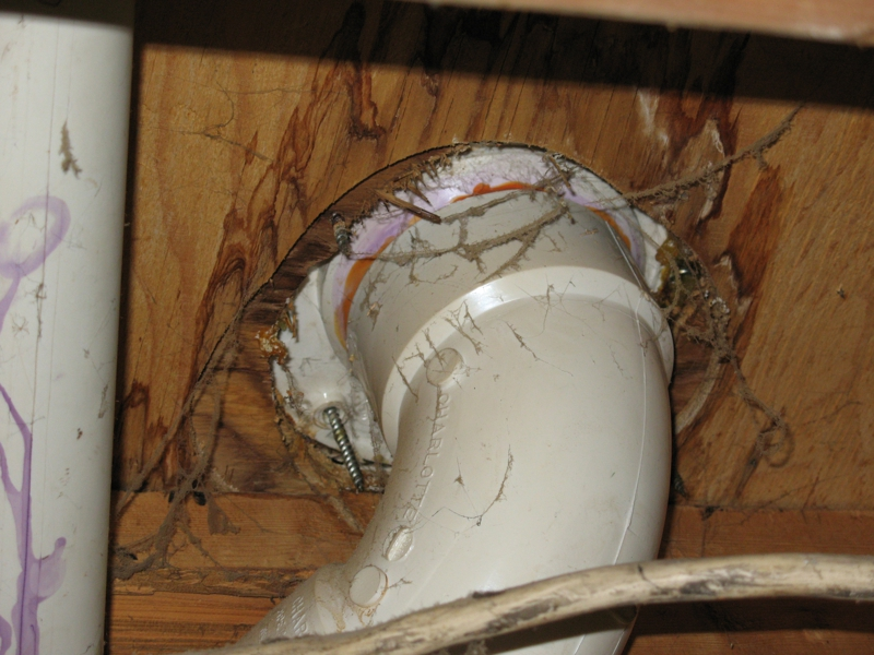 Toilet Flange Installation New Construction : How it is that a newly installed toilet can wobble