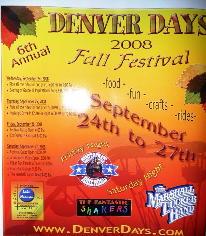 Lake Norman Denver Days Fall Festival Poster